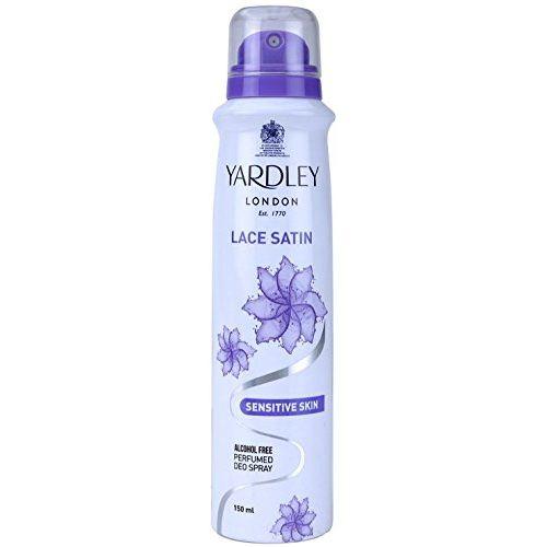 Yardley London - Skin Sensitive Lace Satin Alcohol Free Perfumed Deo Spray, 150ml