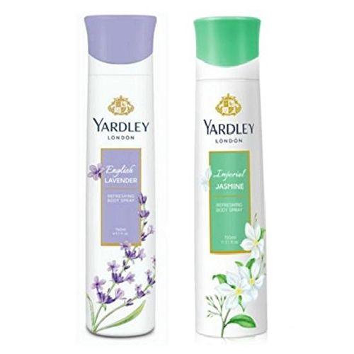 Yardley London Deodorant For Women English Lavender and Jasmine Combo Pack 2 (150 ml)
