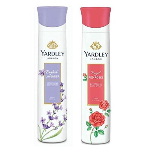 Yardley London Deodorant For Women English Lavender and Red Rose Combo Pack 2 (150 ml)