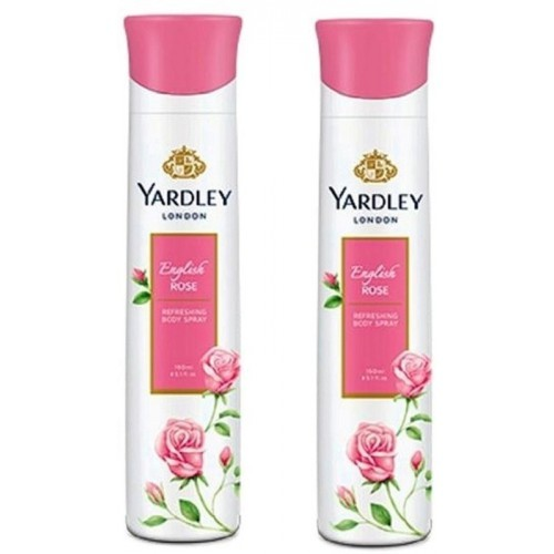 Yardley English Rose Deo Spray (Pack of 2) 150 ml