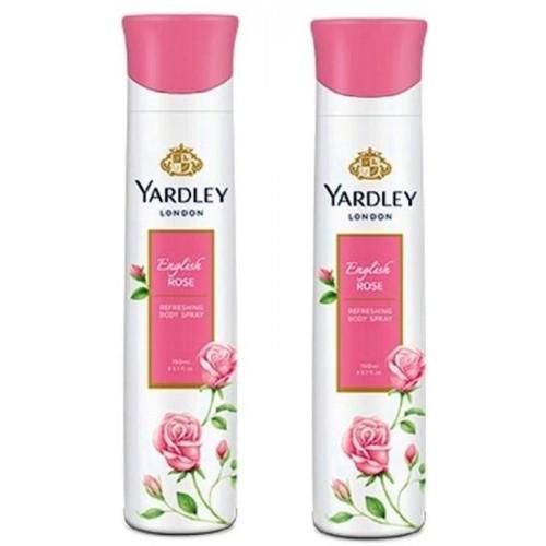 Yardley English Rose Deo Spray (Pack of 2) 150 ml
