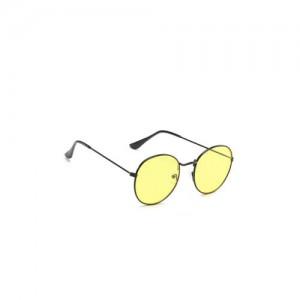 9eefcd7f7b VAST Unisex Yellow Round Sunglasses 3447 C18 SEETHRU BLK YELLOW NIGHT VISION