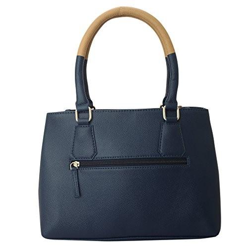 Lapis O Lupo Blue Polyurethane Arancione Handbag