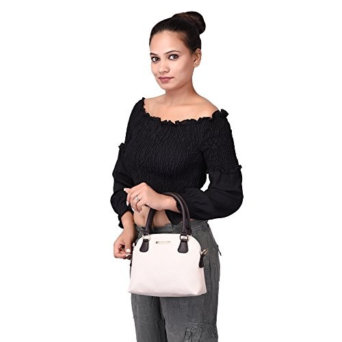 Lapis O Lupo Off-White Polyurethane Small Handbag