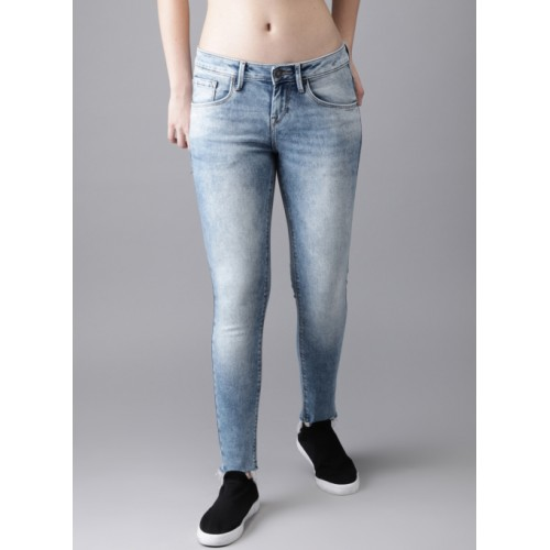 Moda Rapido Blue Slim Fit Clean Look Stretchable Jeans