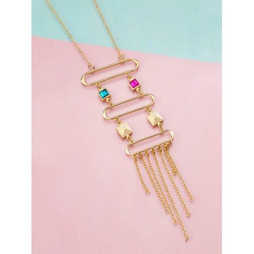 Voylla Gold-Toned Brass Tasselled Necklace