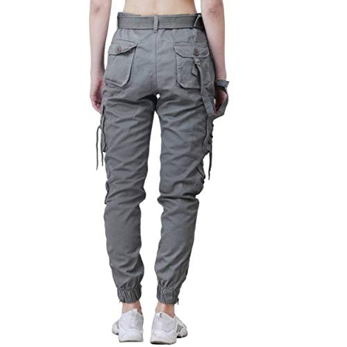 Meoby Dori Style Cotton Dark Grey Relaxed Fit Cargo Pants