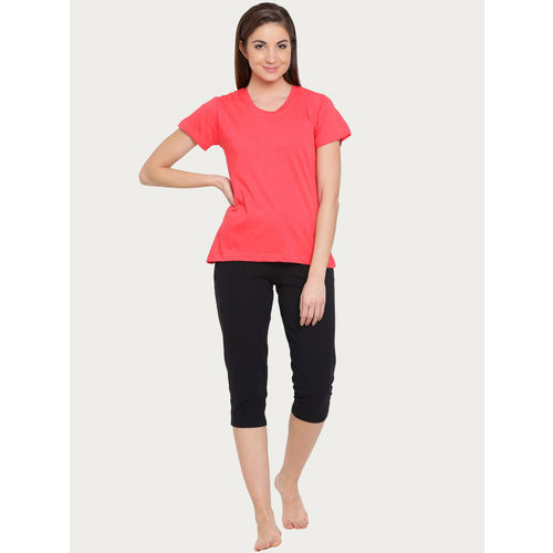 Clovia Women Pack of 2 Cotton Rich Sleep T-Shirt
