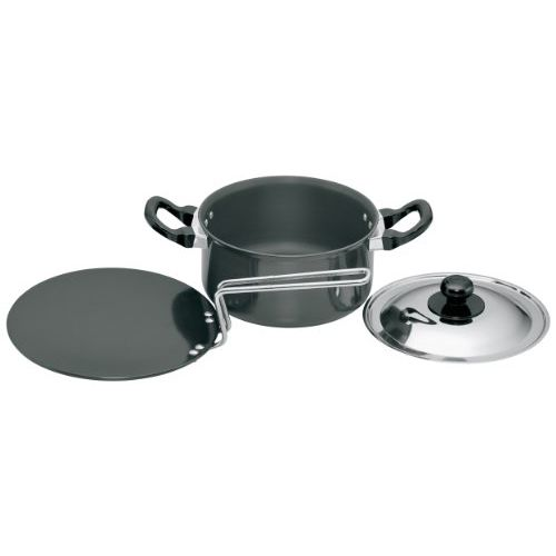 Hawkins Futura Hard Anodised Cookware Set 5, LS6 (contains 2 products and 1 SS lid)