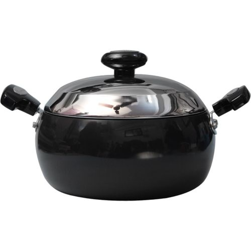 Prestige Hard Anodized Sauce Pan 24 cm diameter with Lid(Aluminium, Non-stick)