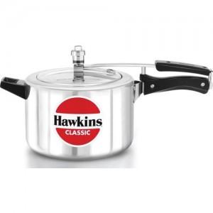 Hawkins Silver Aluminium Classic 5 L Pressure Cooker