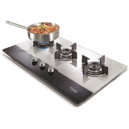 Prestige Hobtop 3 Burner (PHT03 40551) Glass Automatic Gas Stove(3 Burners)