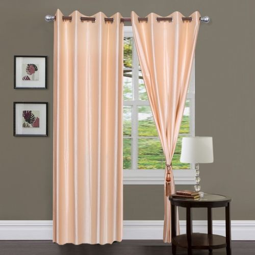 Decor World 274.5 cm (9 ft) Polyester Long Door Curtain (Pack Of 2)(Plain, Multicolor)