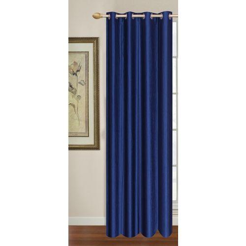 Decor World 213 cm (7 ft) Polyester Door Curtain Single Curtain(Plain, Blue)