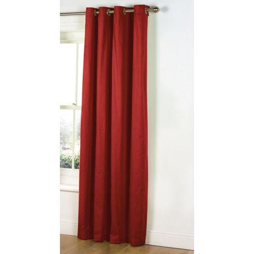 Decor World 274 cm (9 ft) Polyester Long Door Curtain Single Curtain(Plain, Red)