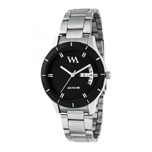 WM Black Stainless steel Analogue Watch