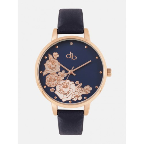 DressBerry Blue Synthetic Embellished Analogue Watch DB18-3B