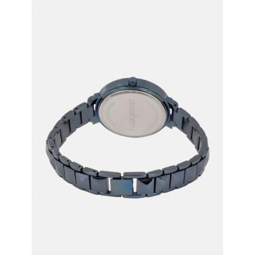 DressBerry Women Blue Embellished Analogue Watch DB18-4C