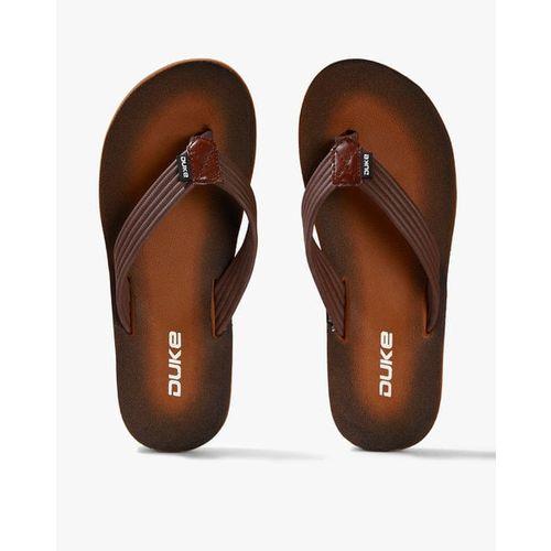 DUKE Textured Thong Flip-Flops