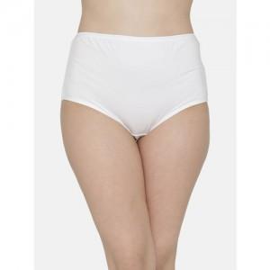 Clovia Women White Solid Hipster Briefs PN1368P18XL