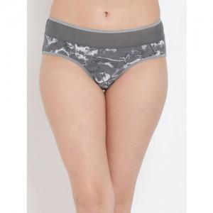 Clovia Women Grey Printed Hipster Briefs PN3069P05XL