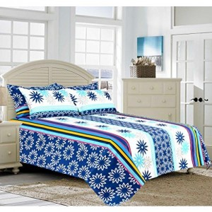 Salona Bichona 100% Cotton King Size Bedsheet with Two Pillow Covers