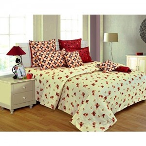Salona Bichona 100% Satin King Size bedsheet with Two Pillow Covers.