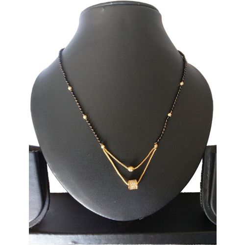 Nilkanth Latest Design Double Layer Gold Plated Mangalsutra Mother of Pearl Mangalsutra