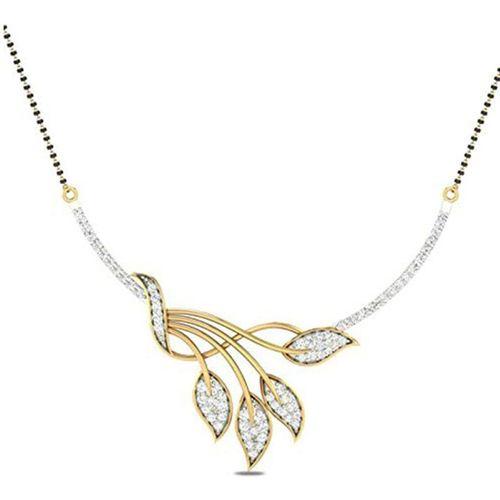 Zeneme American Diamond Gold Plated Designer Mangalsutra Jewellery for Women Alloy Mangalsutra