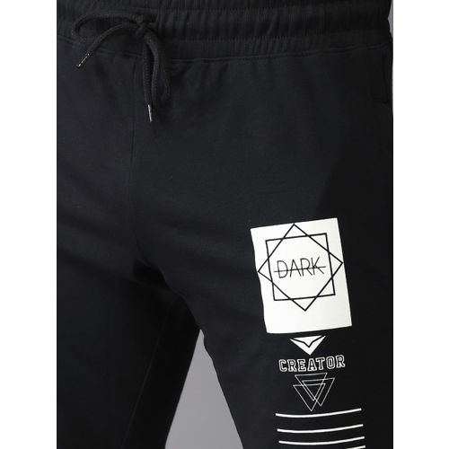HERE&NOW Men Black Printed Joggers