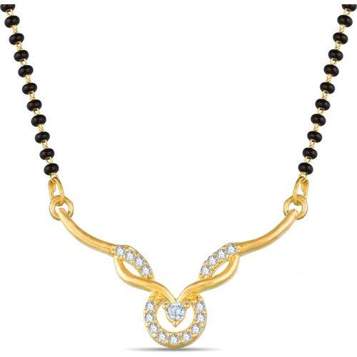 Luxor American Daimond Black Bead Alloy Mangalsutra