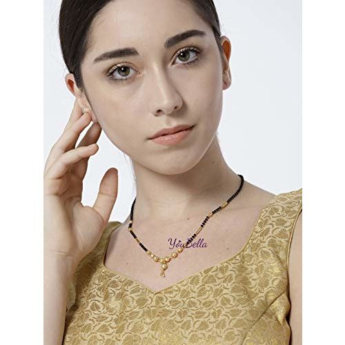 YouBella Gold Plated Mangalsutra for Women (Golden)(MSC_447)