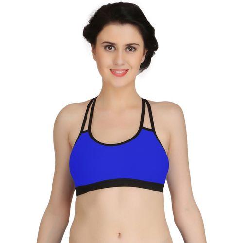 Fashion Comfortz byFashion Comfortz Women's Sports Non Padded Bra(Blue)