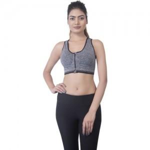 b016b2362d3e1 E mart E mart Front Zipper Grey Sports Bra Removable Padded. Women s Sports  Lightly Padded