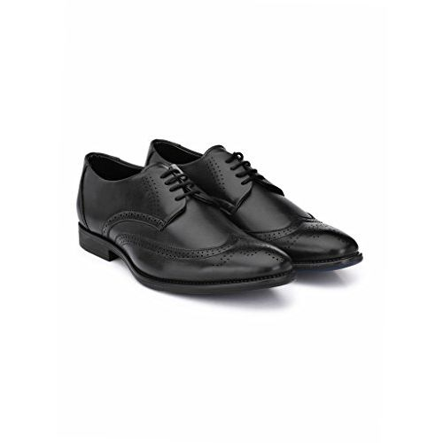 Levanse New Black Synthetic Leather Executive Brogue Formal Shoes for Men/Boys