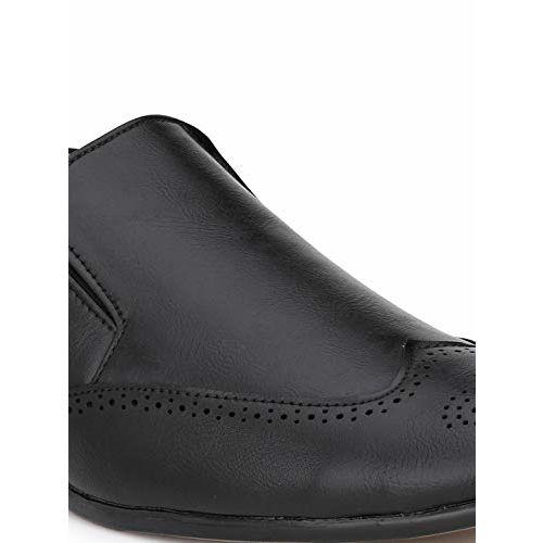 Levanse Formal Black Brogue Moccassins