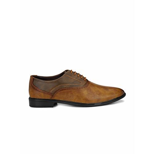 Levanse Men's Tan Synthetic Leather Formal Wear Shoes