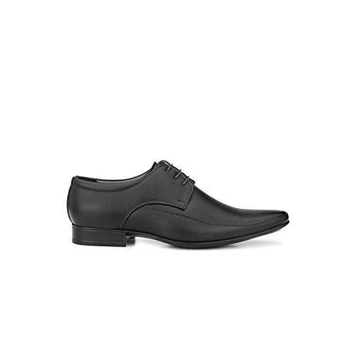 Levanse New Black/Matt Brown/Matt Tan Monk Track Leather Formal Shoes for Men/Boys