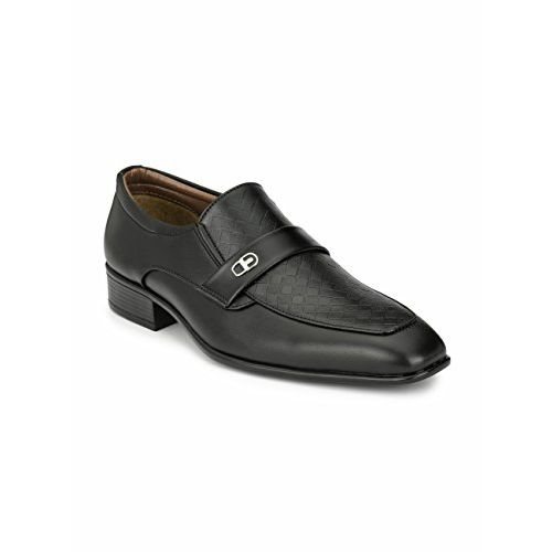 Levanse Men's Black Synthetic Leather Formal Shoes