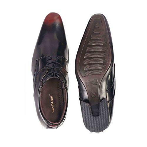 Levanse New Matte Black Snthetic Leather Formal Shoes for Men/Boys