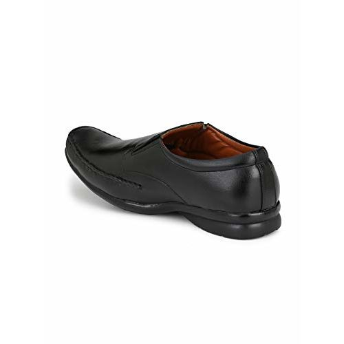 Levanse Men's Formal Airmax Synthetic Leather Black Shoes