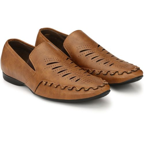 Levanse Office Wear Mocassin For Men(Tan)
