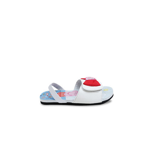 DChica Girls Blue & White Printed Sliders