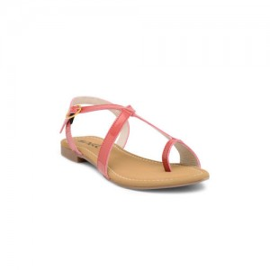 Nell Women Pink Solid Synthetic One Toe Flats
