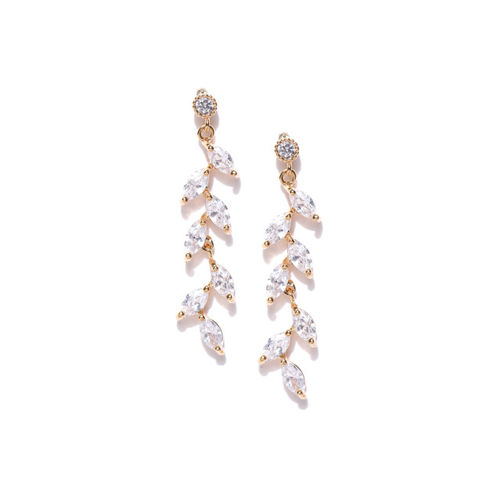 Jewels Galaxy Gold-Plated Contemporary Drop Earrings