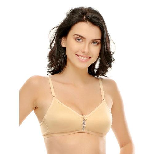 Clovia Beige T-shirt Bra BR0241P2432B