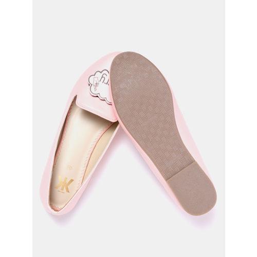 Kook N Keech Women Pink Interchangeable Velcro Patch Ballerinas