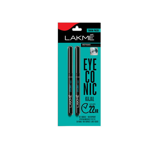 Lakme Deep Black Eyeconic Twin Pack Kajal 0.70g