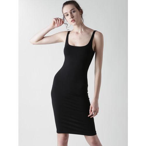 FOREVER 21 Women Black Solid Bodycon Dress