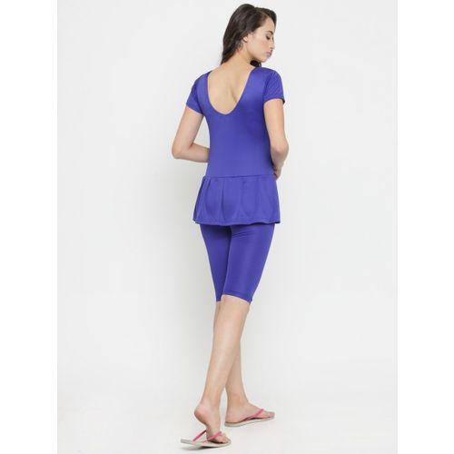 N-Gal Blue Blue Peplum Swimsuit NBES06